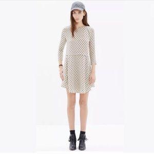 MADEWELL Alexa Chung Silk Polka dot Dress XS